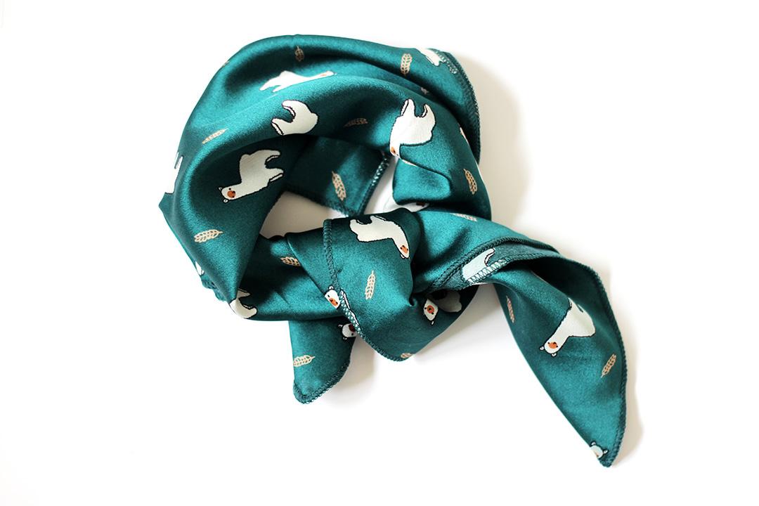 foulard lama vert