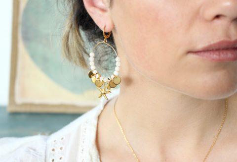boucles d'oreilles bohèmes coquillage