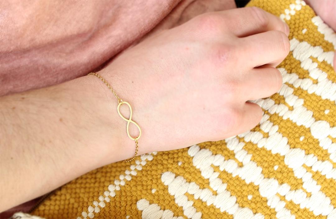 Bracelet infini bijoux naives